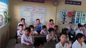 Anh Lê Minh Thiệm -Bí thư xã đoàn tham dự lễ
